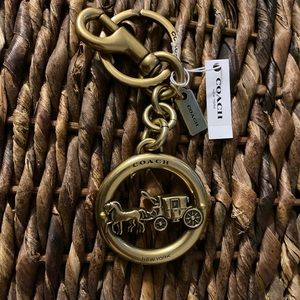 New Metal Coach Horse & Carriage Keychain